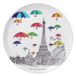 Travel with melamine plate