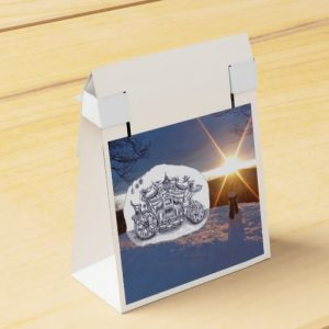 Travel with snowman_paperbox