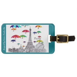 Travel with umbrella_luggagetag