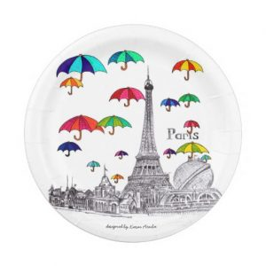 Travel with umbrellas_paperplate