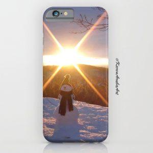 christmas sledge iphone case