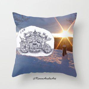 christmas sledge pillow
