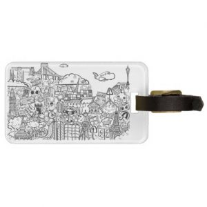 doodles_luggagetag