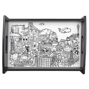 doodles_small serving tray