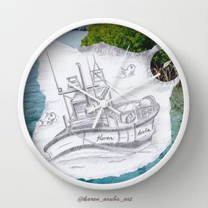 sailingboat_wallclock