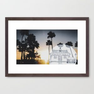 travel-with-pencilsunset-framed-prints