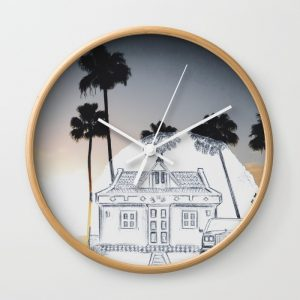 travel-with-pencilsunset-wall-clocks