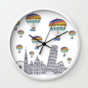 travel-with-air-balloons-wall-clocks