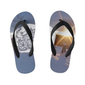 travel-with-snowman_flip-flops
